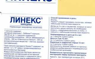 Линекс капсулы, таблетки: инструкция по применению. Линекс детям